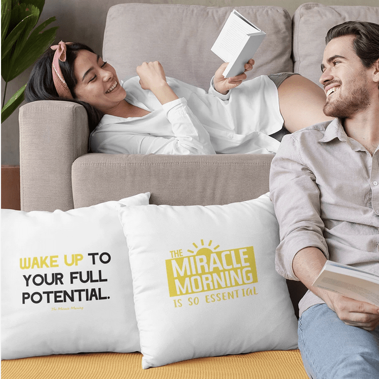 Wake up to your full potential pillow
